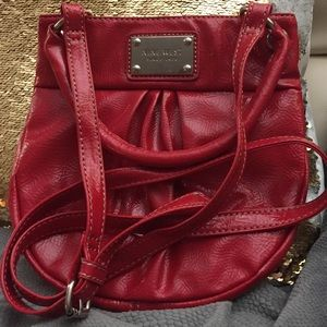 NINE WEST Red Patent Faux Leather Crossbody